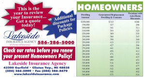 Lakeside Insurance Michigan Homeowners Insurance Rates Advertisement