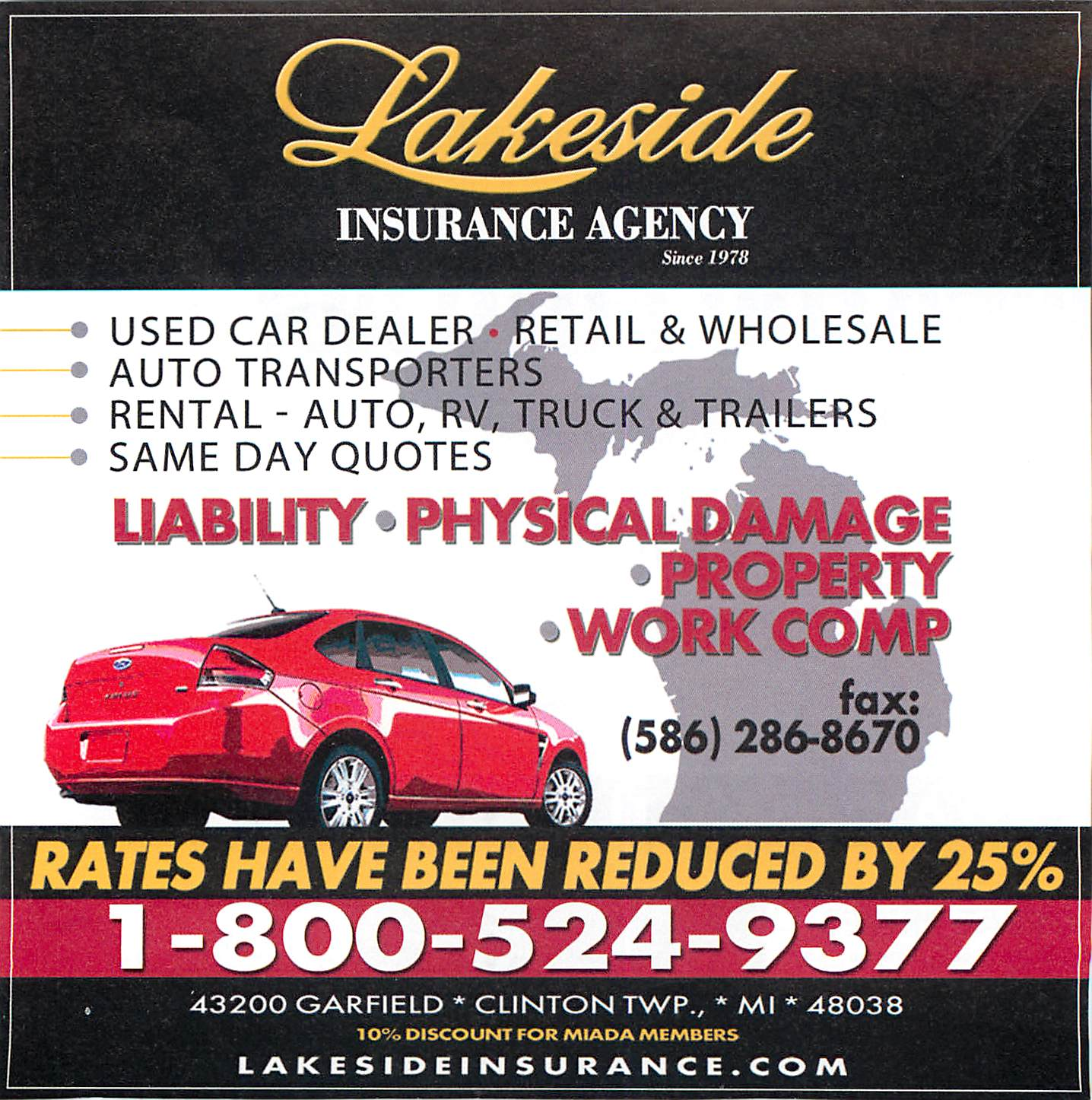 check out lakeside insurances newest add in michigan driveline magazine lakesides used car dealer program is currently exclusive to michigan but will