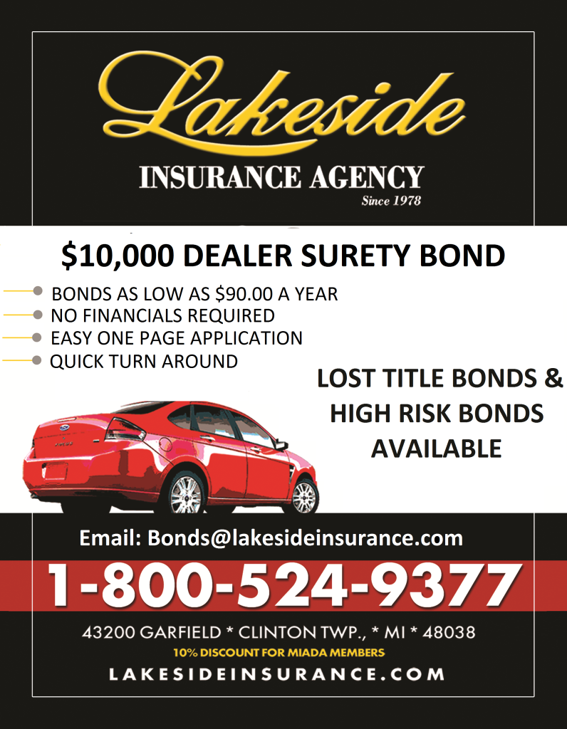 Lakeside Insurance Dealer Surety Bonds - Metro Detroit Macomb Oakland Wayne County Michigan